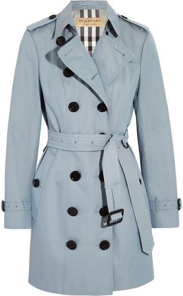 Burberry - The Sandringham Cotton-gabardine Trench Coat - Sky blue