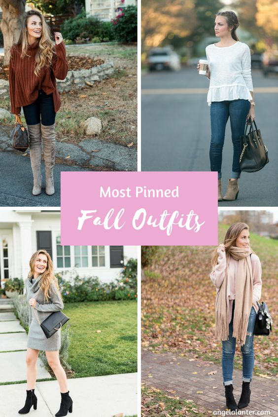 Those looks were my top 10 personal favorite looks. This year, I decided the first fashion post of the season should be my most pinned Fall outfits. Some of these looks are repeat from last year's roundup, but most are new. Take a look at angelalanter.com