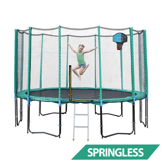 14ft Springless Trampoline With Net