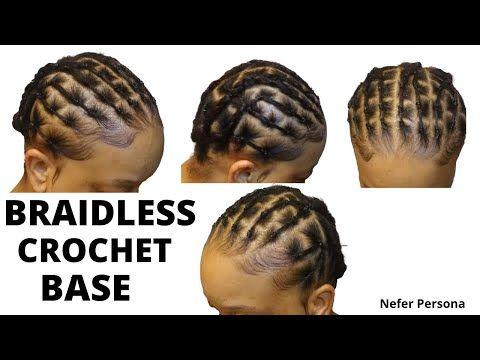 Rubber Band Crochet Base For Thin Hair Prep Hair For Crochets Crochet Base For T Braids For Thin Hair Protective Hairstyles Braids Rubber Band Hairstyles