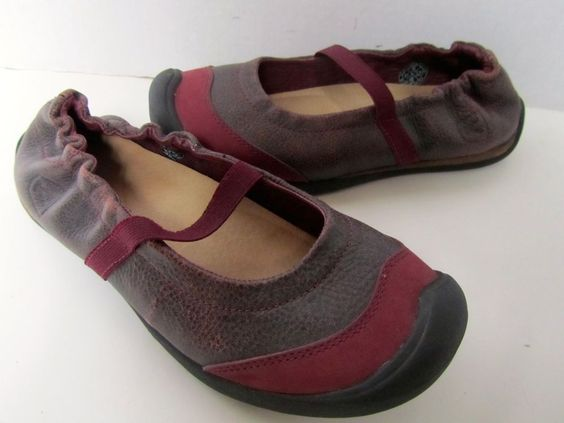 "Keen Mary Jane Ballet FlatsComfort Brown Red Plum Black  ""Wear Around"" 6 #Keen #MaryJanes"