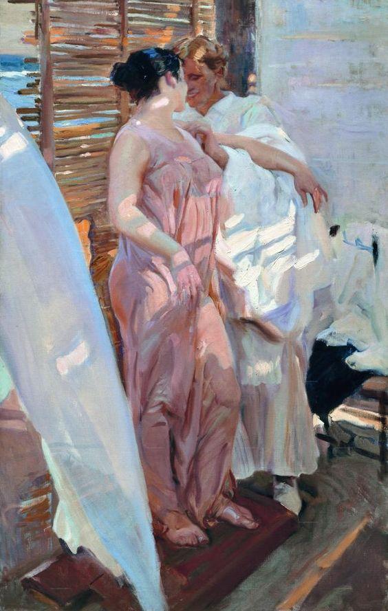 'La bata rosa. Después del baño' (1916) by Joaquín Sorolla