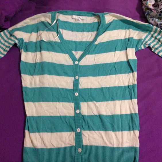 Striped cardigan Never worn! Sleeve length is about elbow length. Forever 21 Sweaters Cardigans