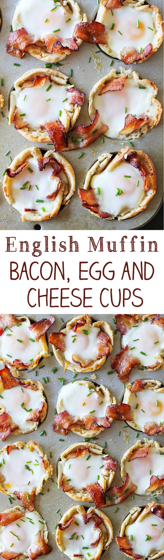 English Muffin Bacon, Eggs and Cheese Cups: a little bacon and the Nooks and Crannies perfection of Thomas' English Muffins, this recipe from Number 2 Pencil hits the spot.