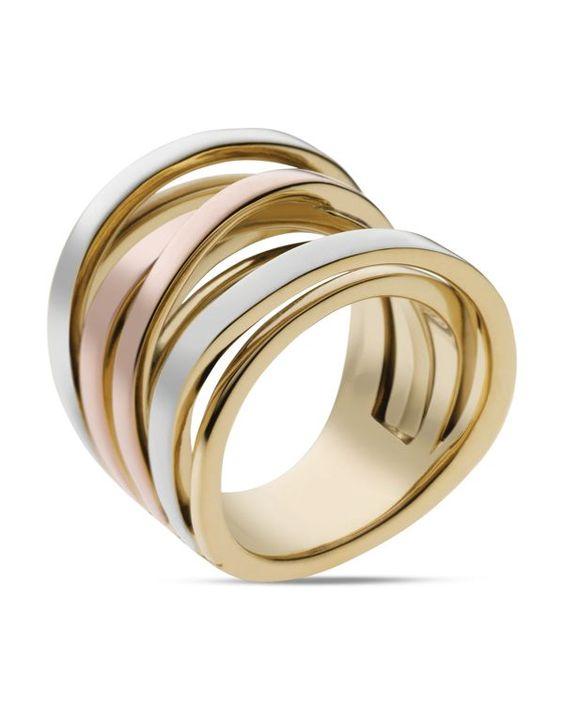Michael Kors Tri-Tone Intertwined Ring | Bloomingdales