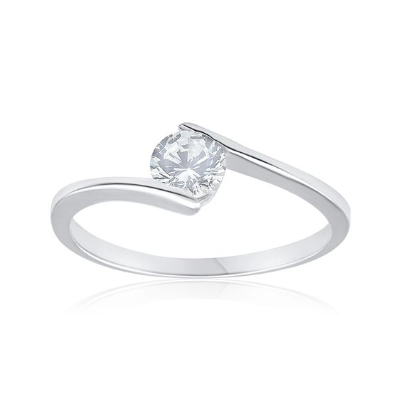 Cubic Zirconia Sterling Silver Dress Ring ($9.00) from Shiels.com.au