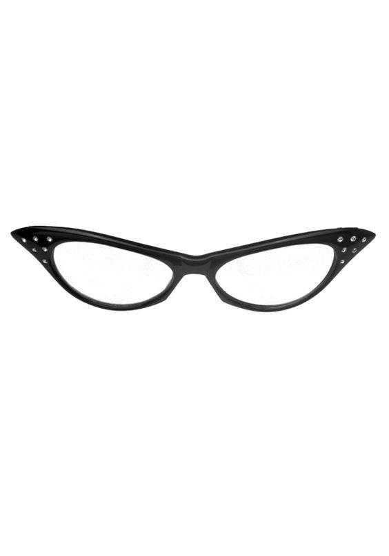 50s Black Cat Eye Glasses #SockHop #BobbySoxer
