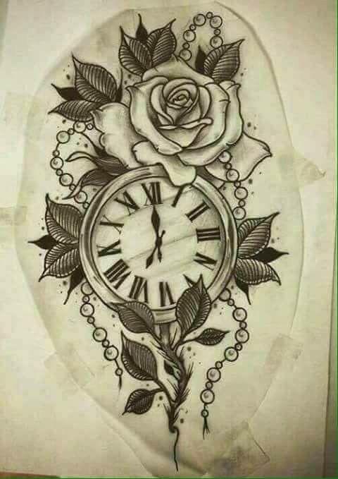 Relogio Taschenuhr Tattoos Tattoo Ideen Vintage Blume Tattoo