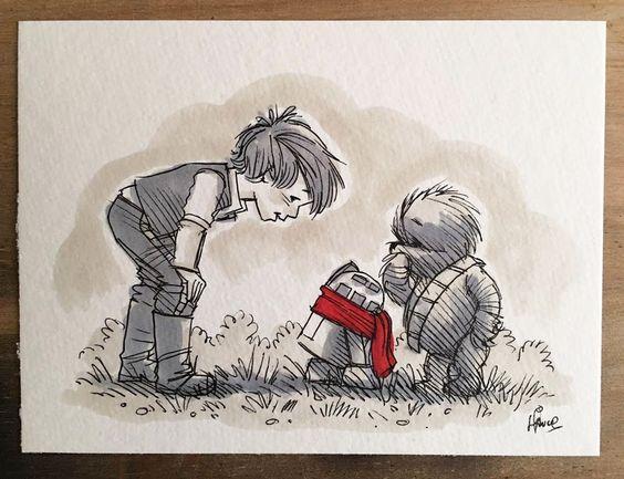 Tiernos personajes de Star Wars inspirados en Winnie Pooh