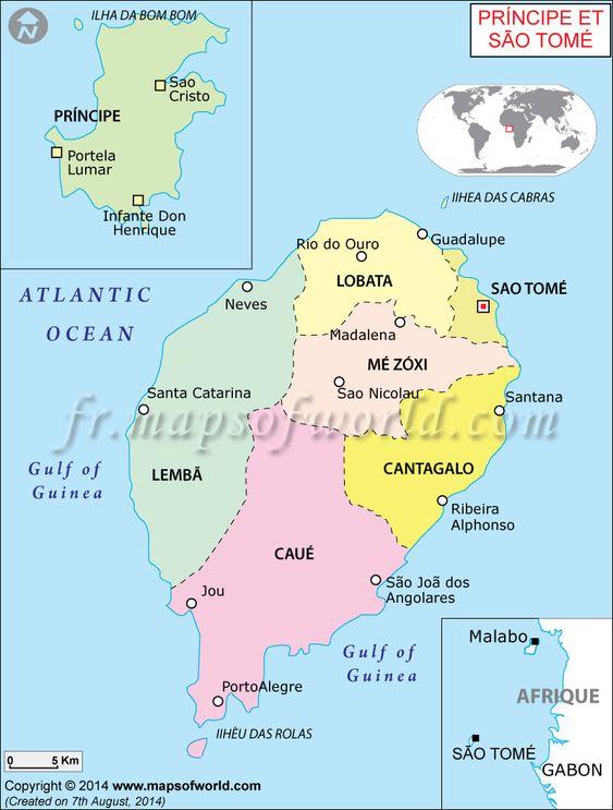 Carte de Sao Tomé et Principe (#Map of Sao Tome and Principe)