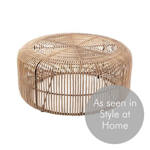 Round Rattan Coffee Table                                                       …