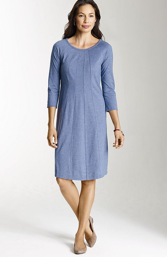 Misses > multiseam 3/4-sleeve knit dress at J.Jill