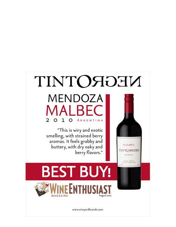 TintoNegro Mendoza Malbec 2010 - Wine Enthusiast BEST BUY ...   564 x 728 jpeg 36kB