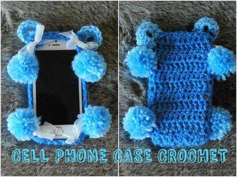 DIY iPHONE CASE Blue Bear Crochet Cell Phone Case - YouTube