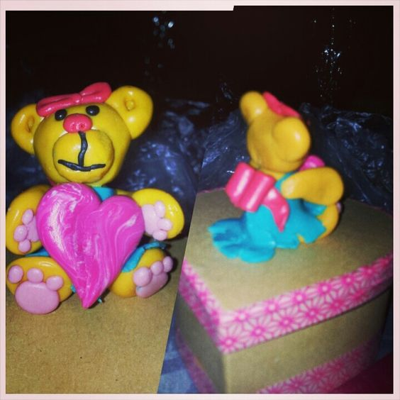 Creative#fimo#bear#heart