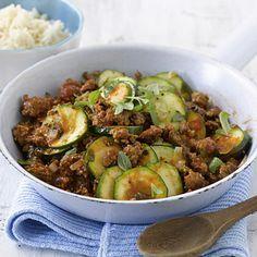 Zucchini-Hackfleisch-Pfanne ohne Reis low carb