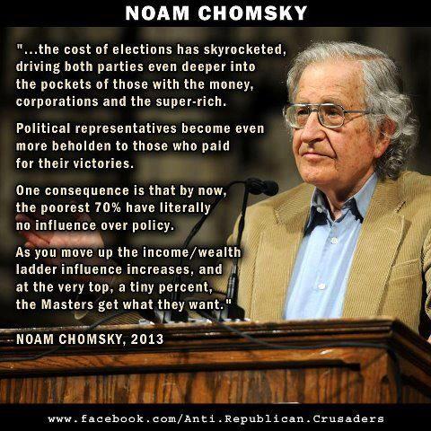 ~ Noam Chomsky: