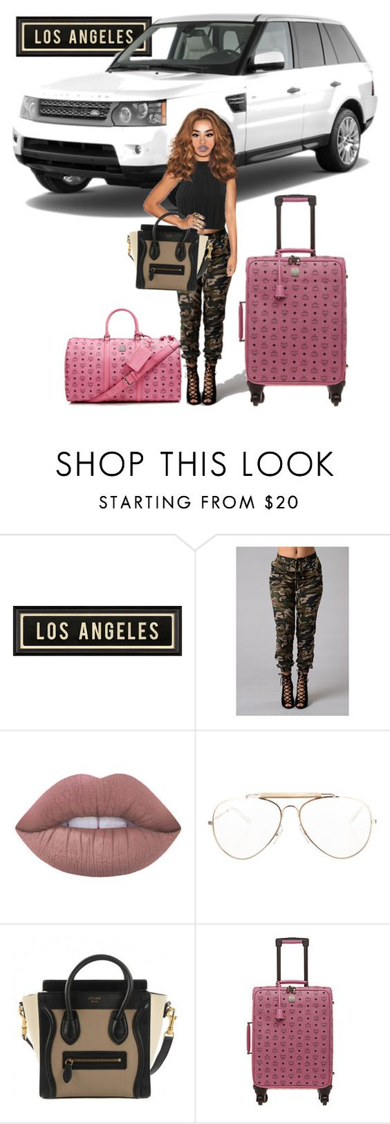 """Oh Hey L.A"" by zaylaa ❤ liked on Polyvore featuring Dot & Bo, CÉLINE and MCM"