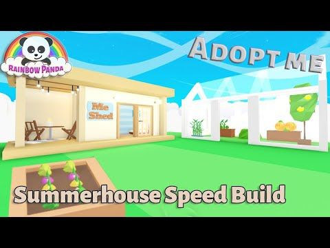 Adopt Me Builds Summerhouse Greenhouse Speed Build Youtube Summer House Adoption Cute Room Ideas