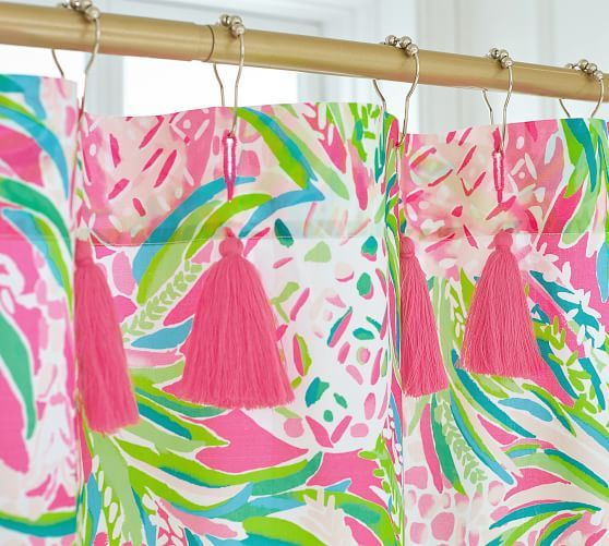Lilly Pulitzer Alotta Colada Shower Curtain Tropical Shower