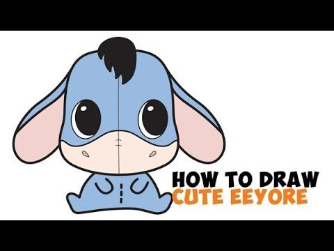 How To Draw A Cute Chibi Kawaii Eeyore Easy Step By Step Drawing
