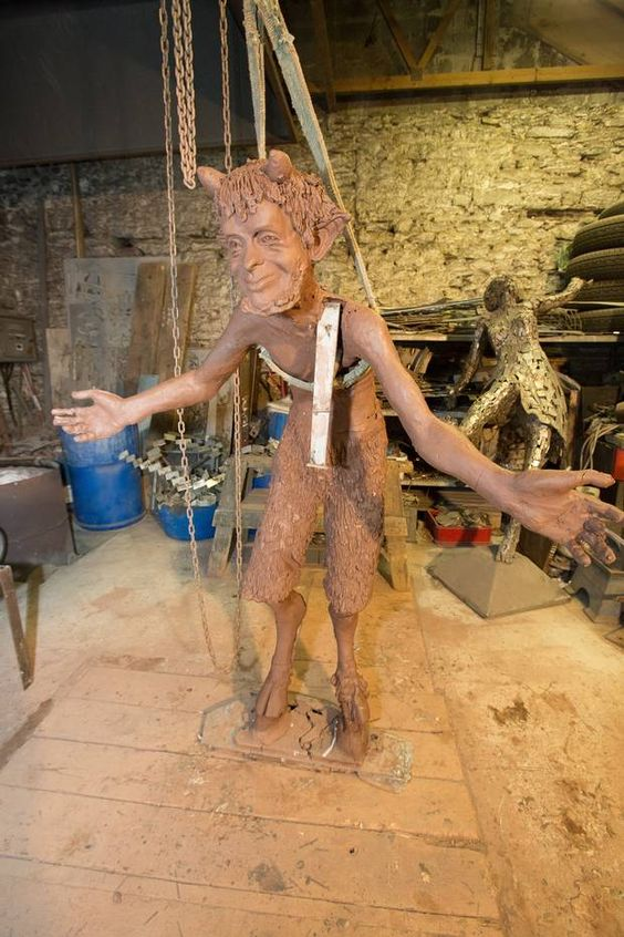 Mr Tumnus. These are the first stunning images of the Narnian characters which will soon be gracing the new CS Lewis Square in the heart of east Belfast. The seven sculptures, which will eventually become a key hub in the centre of the Connswater Community Greenway, are currently under construction at the Co Donegal studio of artist Maurice Harron, who was commissioned by Belfast City Council to build them.