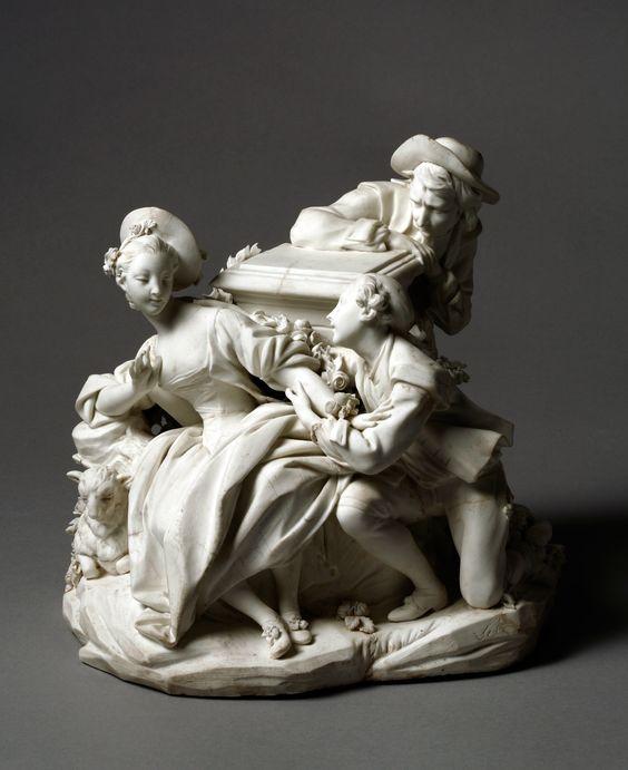 """""""Le Jaloux""""; soft-paste biscuit porcelain Vincennes, 1756.:"""
