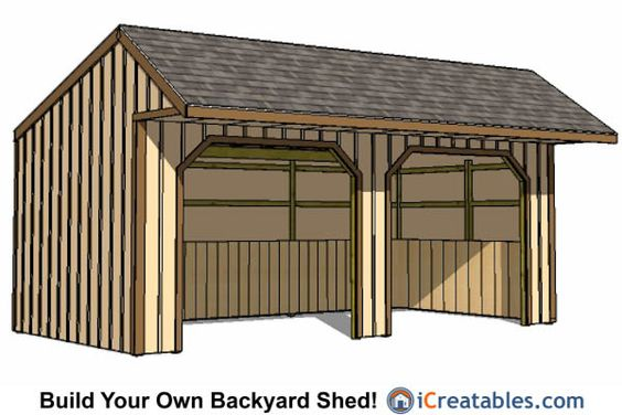 12x24 run in shed with cantilever covered porch 12x24 for Shed with covered porch