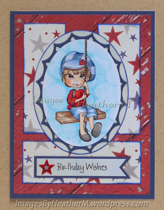 "HeatherM using Lacy Sunshine ""Reggie's Swing""   Like the use of pp in 3 strips, 2 vertical and 1 horizontal."