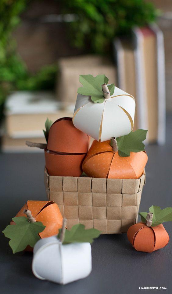 DIY Paper Pumpkin Paper Pumpkin, Diy Paper and Pumpkins