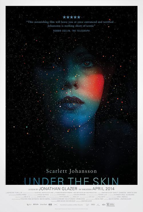 "UK poster for ""UNDER THE SKIN"" with Scarlett Johansson"
