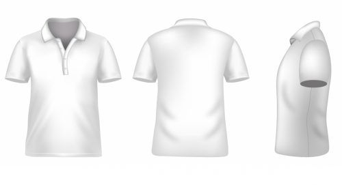Blank Tshirt Template For Photoshop In White Color Polo Shirt