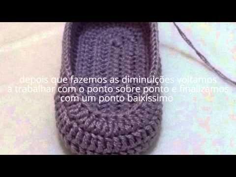 Sapatinho de Crohe Vitoria parte 2 passo a passo - YouTube