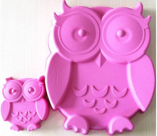Owl Cake Pan Silicone Pink