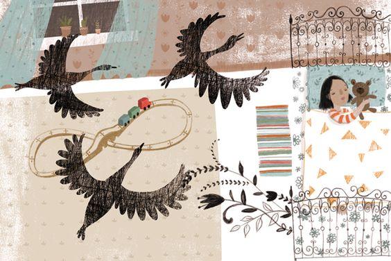 "illustrated by ""dinara"" seen on vlinspiratie.blogspot.com"