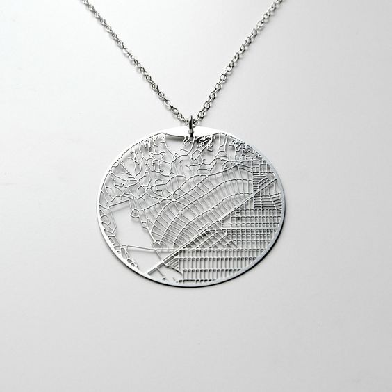 Streets Necklace. Super cool for a place that is special to you.