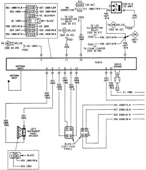 jeep cherokee stereo wiring diagram katherinemarie me and