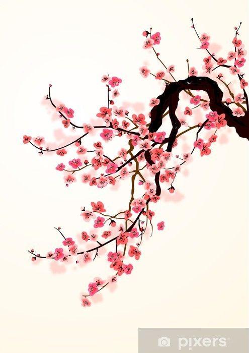 Cherry Blossom Tree Original Painting Oil Impasto Painting Etsy Cherry Blossom Painting Tree Painting Cherry Blossom Painting Acrylic