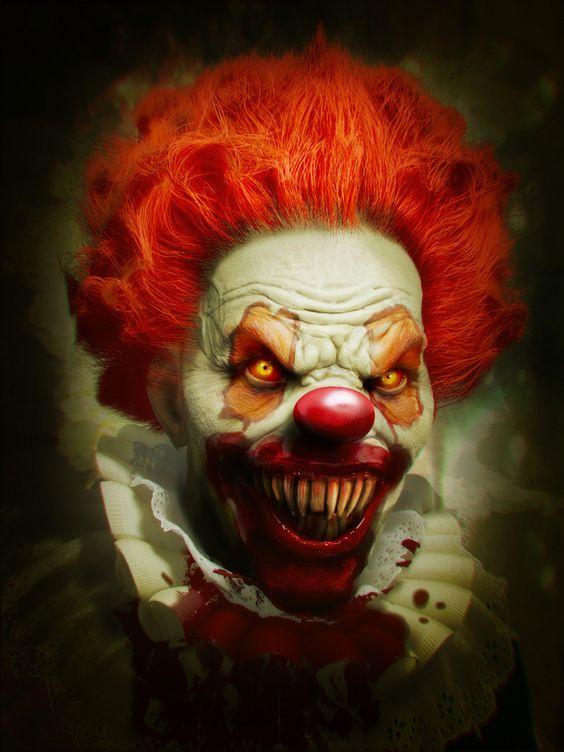 evil clown dark shit i love pinterest happy halloween clowns und gl cklich. Black Bedroom Furniture Sets. Home Design Ideas