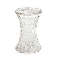 Kartell - Stone Beistelltisch und Hocker, transparent Transparent, Durchsichtig T:30 H:45 B:30
