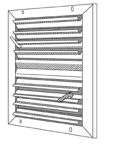 Evaporative Cooling Multi Sycle : Shoemaker quot x high velocity multi louver flush