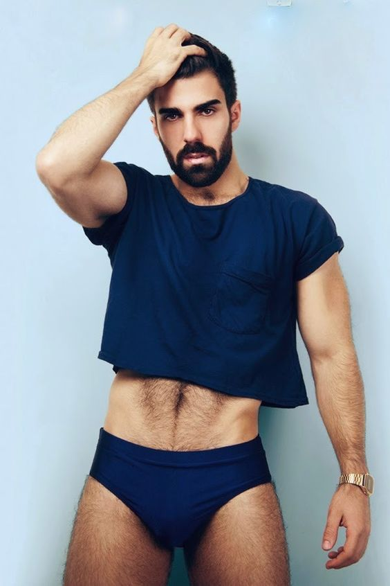 A bearded man in a crop top crop pinterest underwear a bearded man in a crop top crop pinterest underwear fashion and male fashion urmus Choice Image