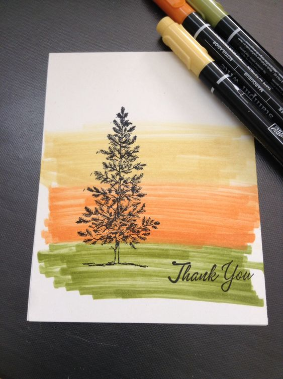 Simple marker background, Lovely as a Tree .