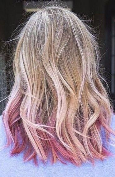29 Ideas For Hair Color Pink Ombre Dip Dye Tips Hair