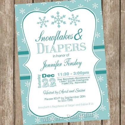 10 Perfect Winter Baby Shower Invitations