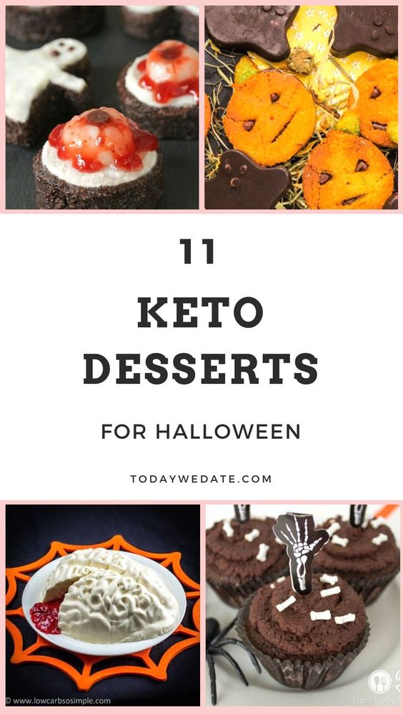11 Keto dessert ideas for Halloween +  44 Keto Approved Halloween recipes - Todaywedate.com -low carb/low carb  snacks/keto treats/ keto halloween/keto treats for halloween/low carb dessert/ keto snacks/keto dessert for halloween/keto recipes for halloween/Easy keto recipes/keto chocolate/halloween food/creepy halloween food/spooky treats/halloween party food/halloween party ideas/