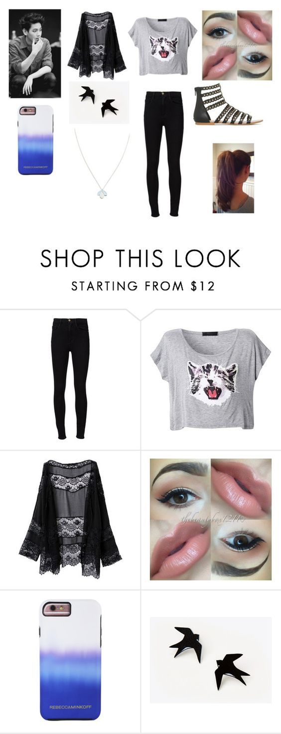 """""""Lazy Day with Baekhyun"""" by miks15 on Polyvore featuring Frame Denim, Rebecca Minkoff, Wolf & Moon, StreetStyle, summerstyle, EXO and baekhyun"""