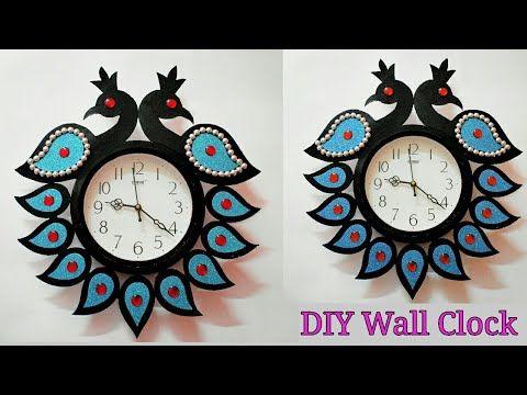 Home Decorating Ideas Diy Wall Clock Wall Hanging Craft Ideas Diy Wall Decor Artmypassion Youtub In 2020 Wall Hanging Crafts Diy Clock Wall Wall Decor Crafts