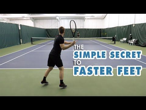 Simple Tennis Footwork Drill For Faster Feet The Split Step Youtube Body Workout Plan Tennis Tennis Lessons