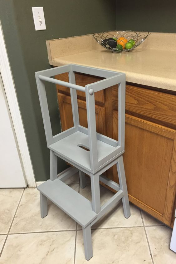 Attractive Montessori Kitchen Helper / Toddler Tower Step Stool / Learning Tower |  Learning Tower, Kitchen Helper And Tower